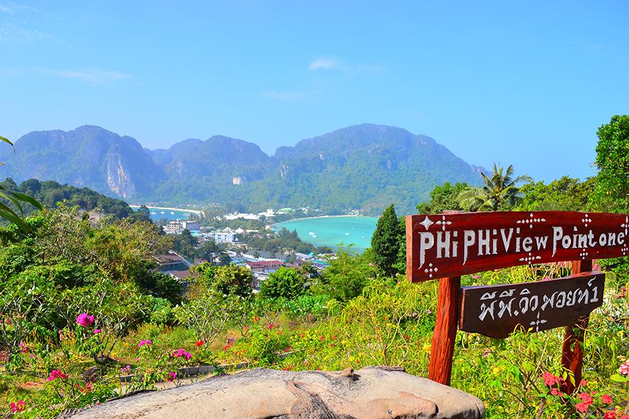 the observation deck, Phi Phi Island, Thailand (phi phi don)