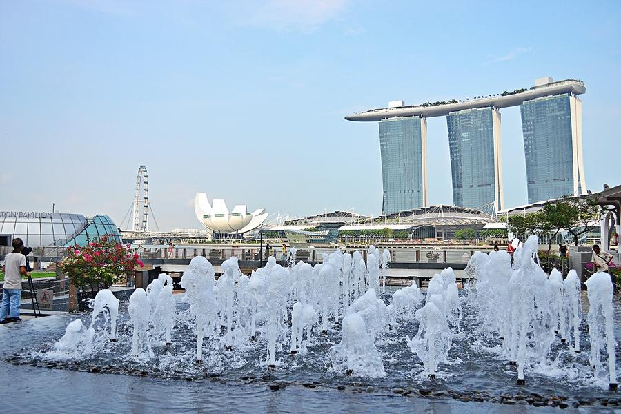 Вид на главную площадь Сингапура