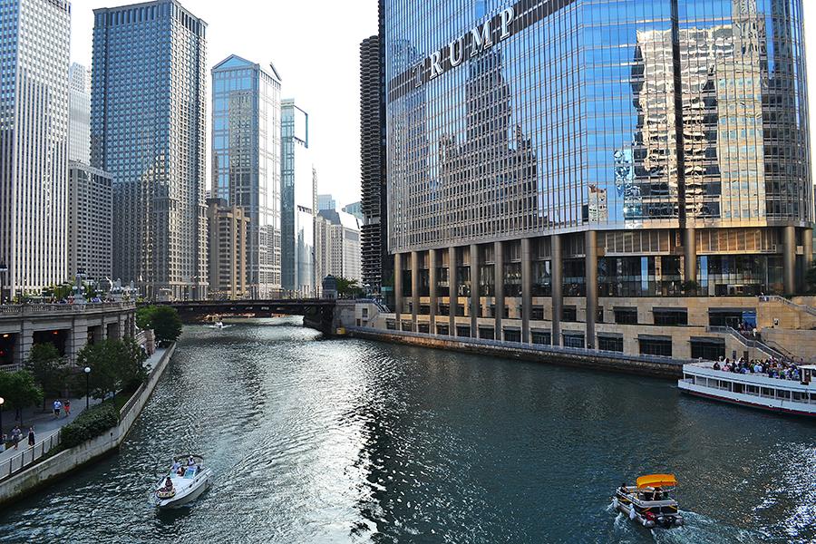 Центр города в Чикаго