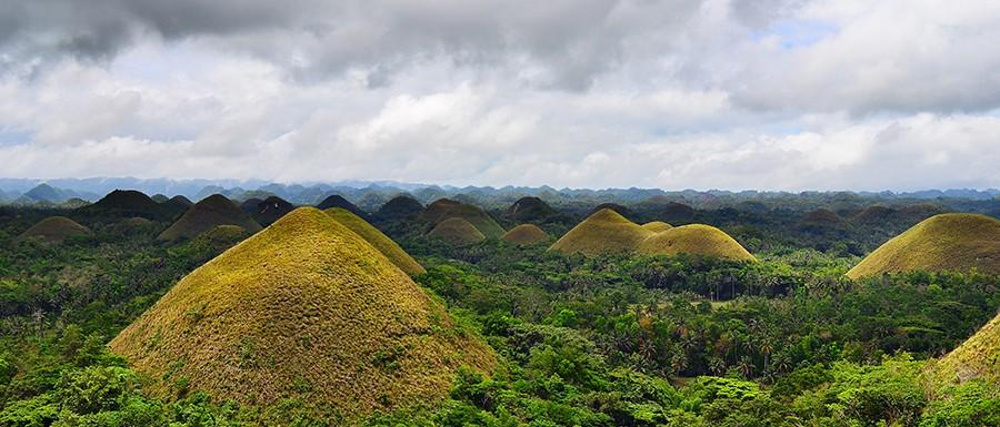 Chocolate hills in Bohol island, Phillipines