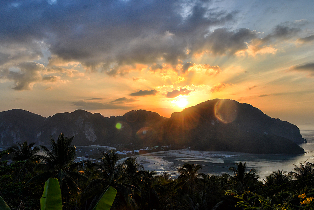 The sunset view from the observation deck of Phi Phi Don