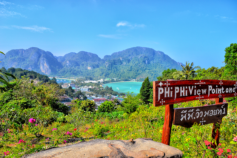View from the observation deck of Phi Phi Don