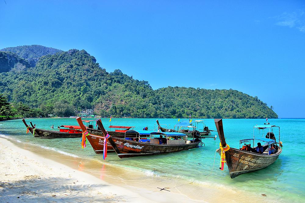 the beach of Phi Phi Island