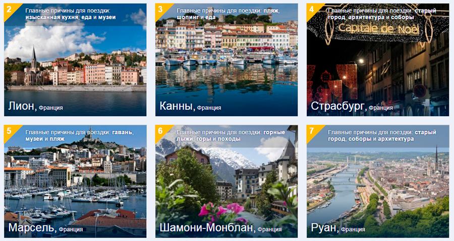Франция через booking.com