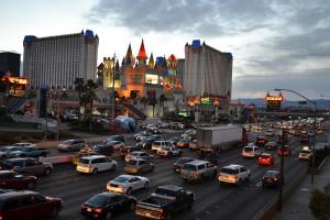 Вид на отель Excalibur в Las Vegas