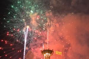 Новогодний салют в Лас Вегасе