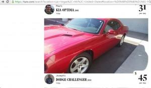 Аренда автомобилей в Лас Вегасе. Dodge Challenger