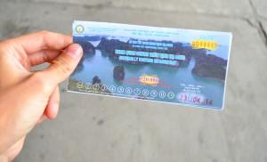 Билет на посещение национального заповедника Ha long Bay