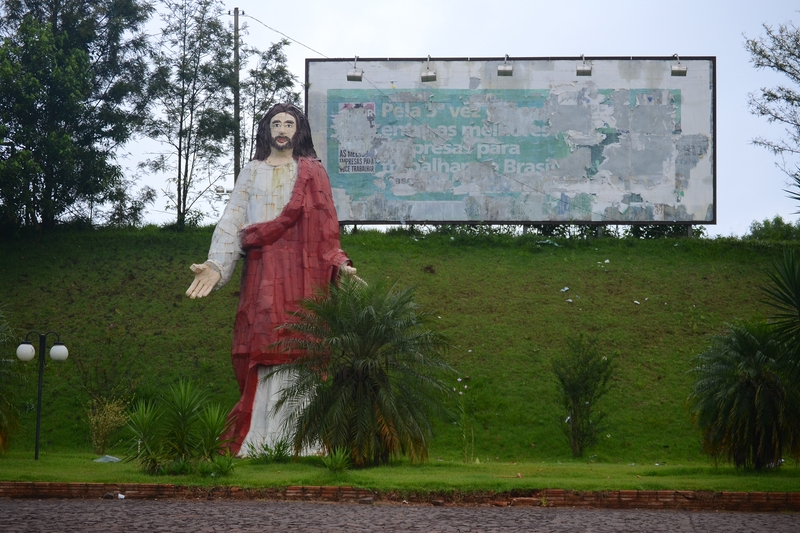 Monument of Jesus Christ at the second parking lot