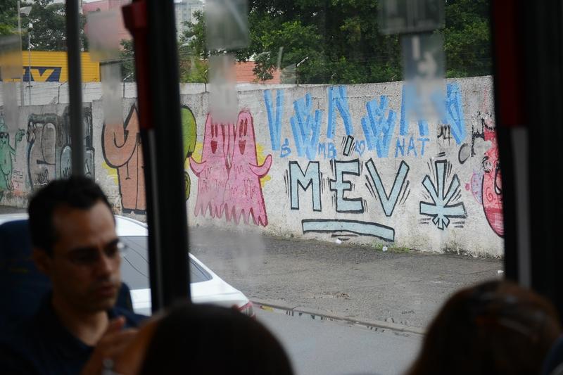 в Бразилии очень популярно рисование на стенах