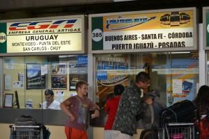 касса билетов на автобус до Буэнос Айреса и Уругвая