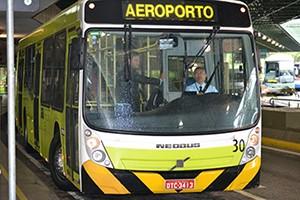 автобус который курсирует между терминалами в аэропорту GRU