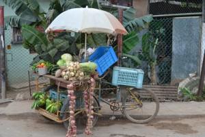 передвижной прилавок по продаже овощей