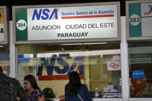 касса по продаже билетов до Парагвая
