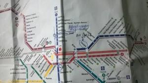 как добраться до автобусного терминала tiete на метро, карта метро