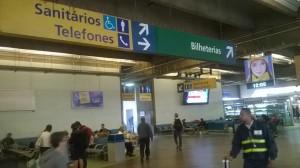 автобусный терминал tiete в Sao Paulo