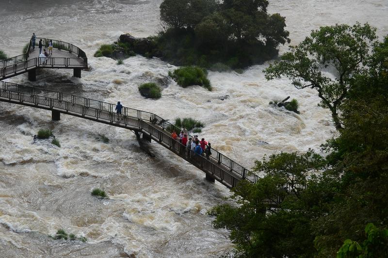view point Iguacu Falls in Brazil