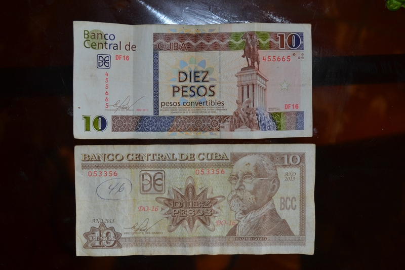 Cuban peso and CUC