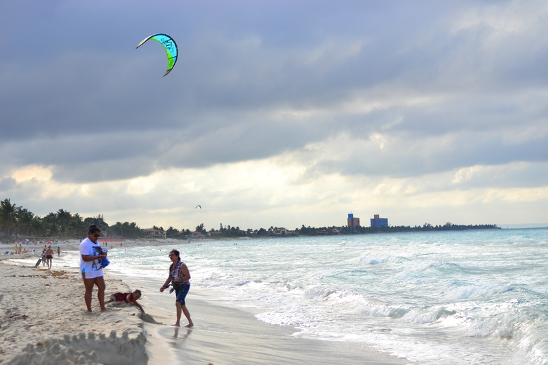 windsurfers on the beaches of Varadero