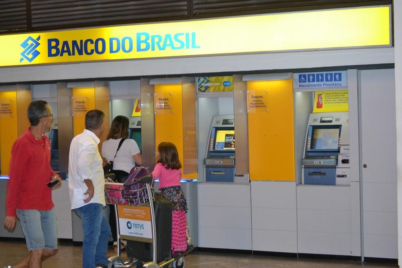 Банкоматы банка Бразилии в аэропорту