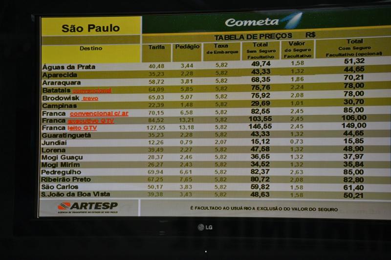 цены автобусы по Бразилии