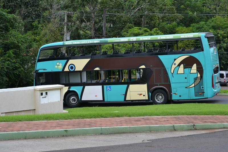 the bus inside the Iguazu Park