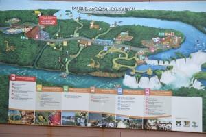 карта Национального парка Игуасу