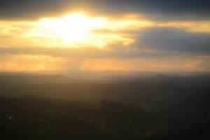 рассвет по дороге на Игуасу