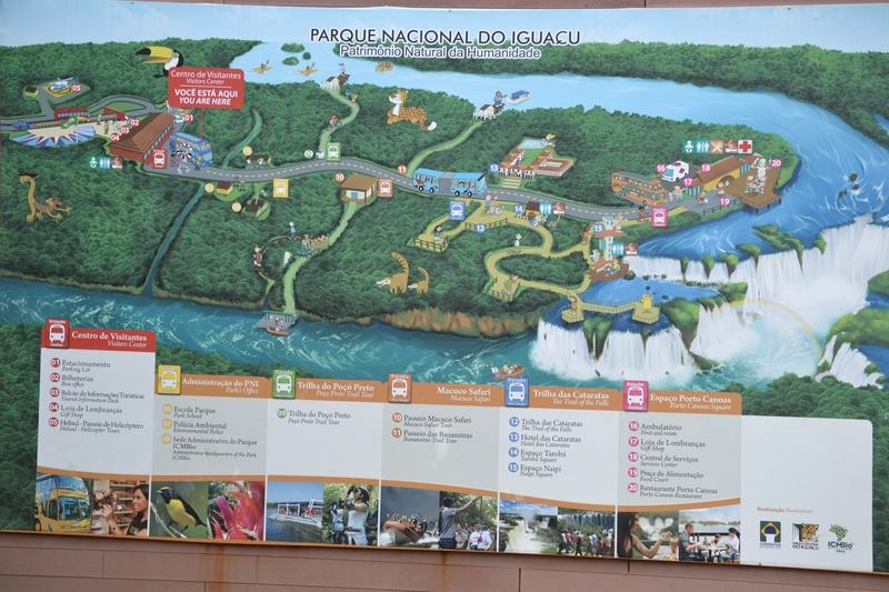 Iguaçu National Park map