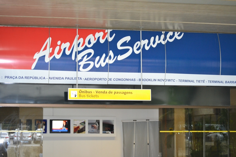 касса по продаже билетов на Onibus в аэропорту