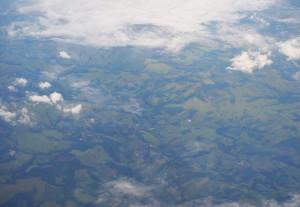полет в Бразилию, вид из самолета