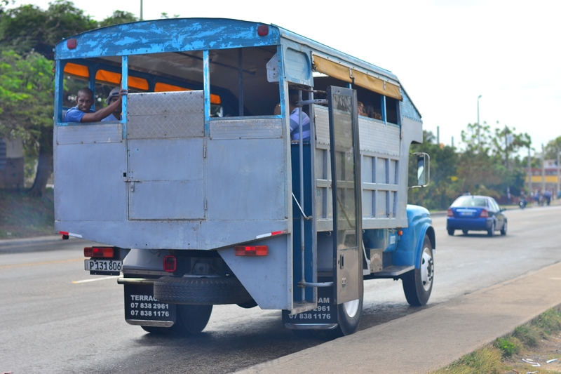 обществнный транспорт на Кубе