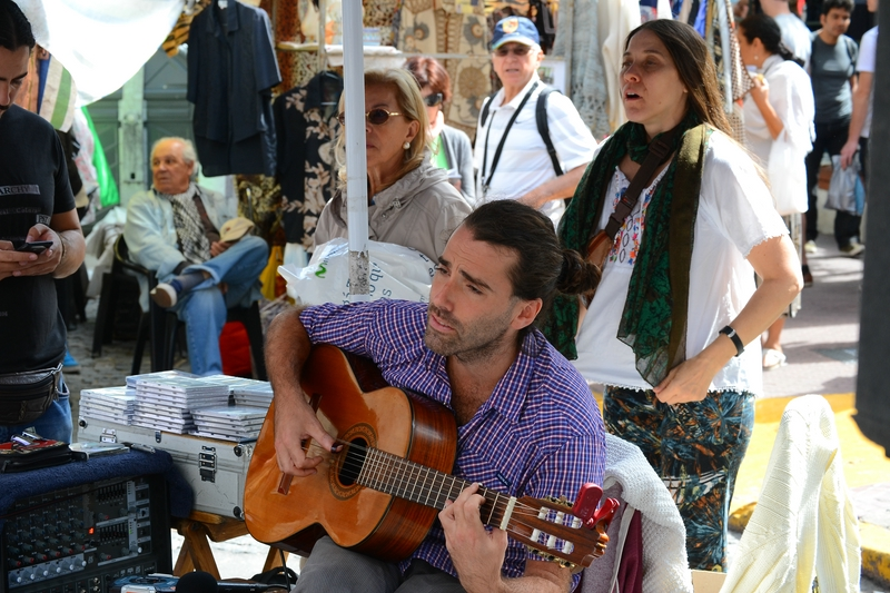 one of the street guitarists in Buenos Aires