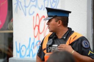 Полицейский в Буэнос Айресе