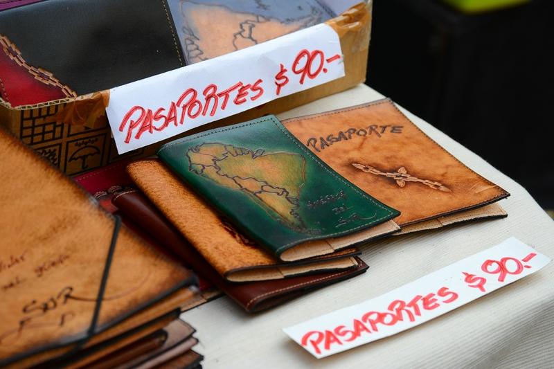обложка на паспорт из кожи с картой Южной Америки