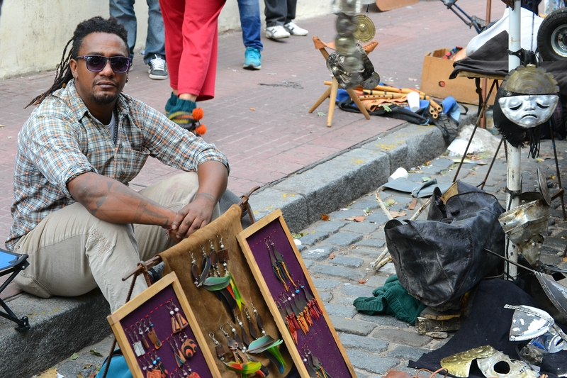 one of the street vendors in Buenos Aires
