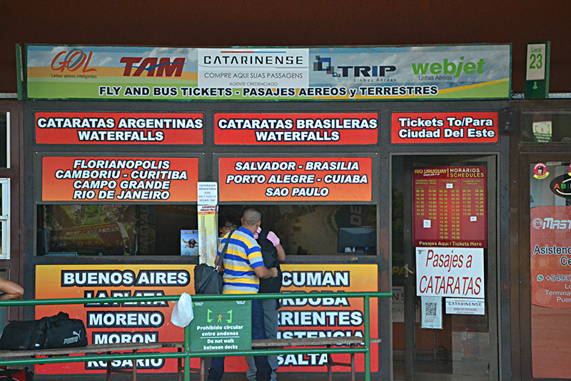 ticket booking offices in Brazil and other destinations