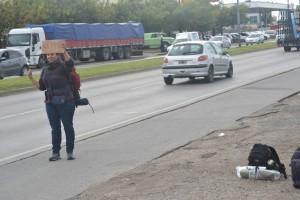 наш автостоп в Аргентине до La Plata