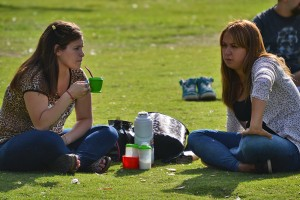 аргентинцы пьют мате в парке
