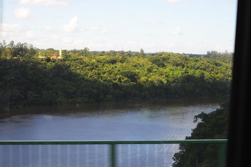 the bridge over the river Iguazu