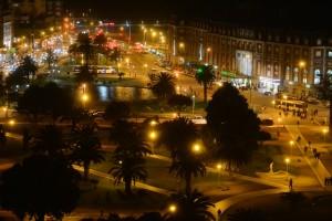 ночной вид из окна моей комнаты
