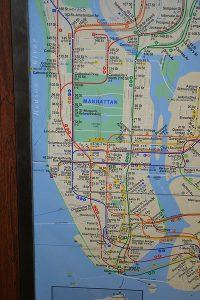 Subway map New York