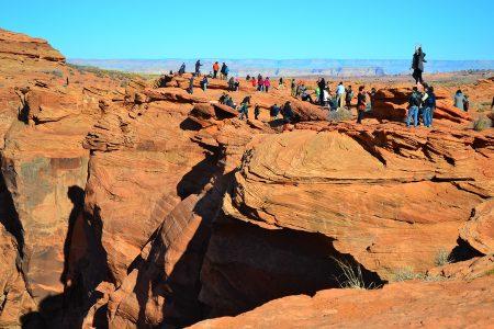 Вид на Гранд каньон с земли