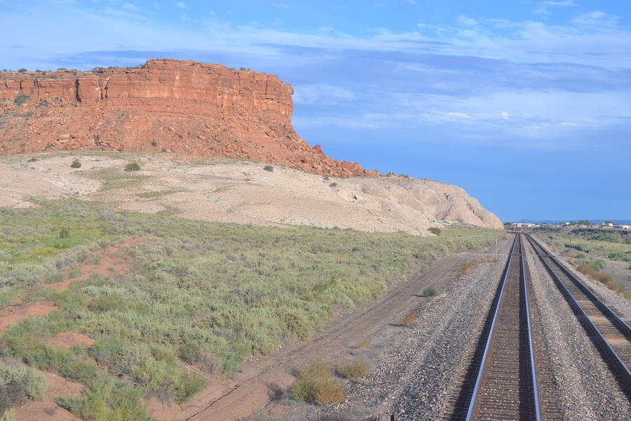 views of the canyons with trains