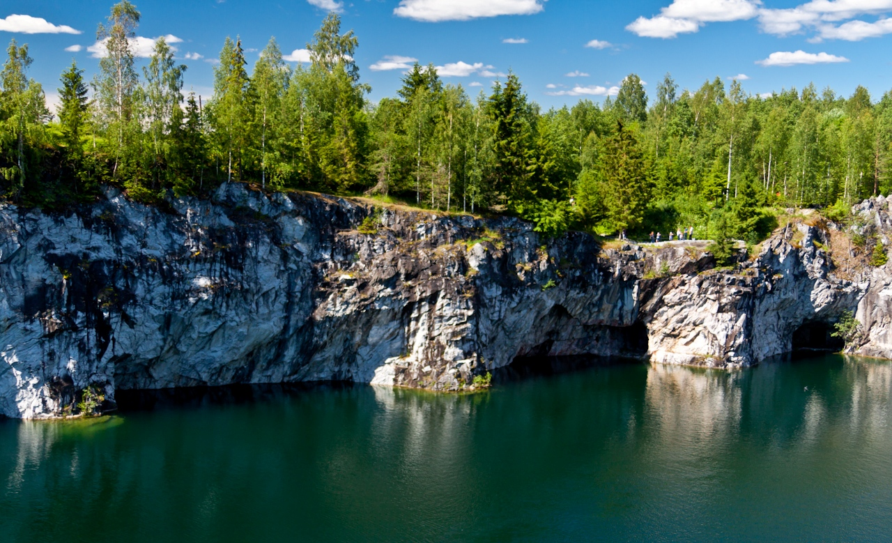 Marble Canyon in Karelia