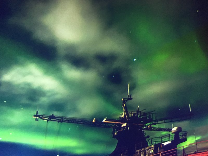 Northern lights in Murmansk. Russia.