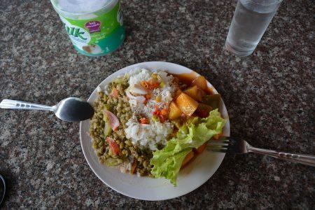 примерный обед со шведского стола в отеле La Ong Dao Hotel