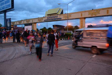 рассвет на границе Таиланда и Лаоса