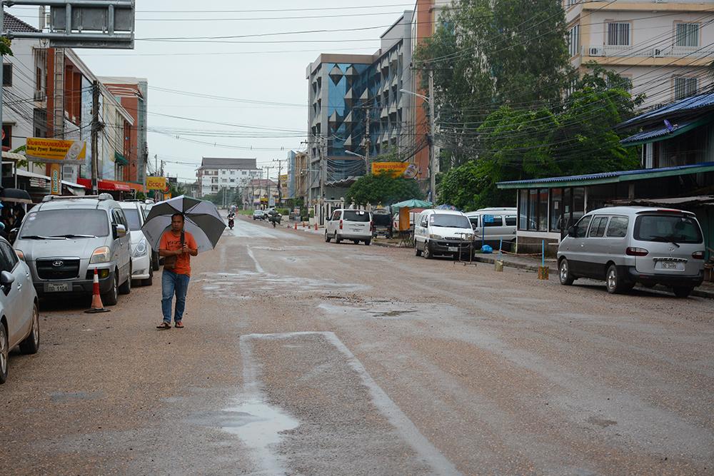 улица, на которой находится Тайское посольство в Лаосе