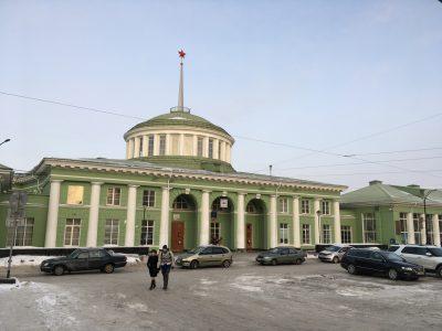 Здание ж/д вокзала в Мурманске